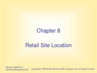 Retail Site Location