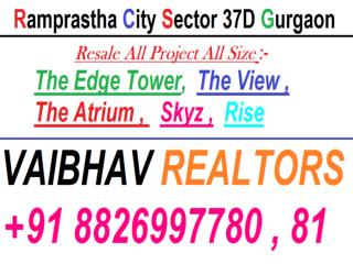 3 BHK Flats For Resale 64 Lac All Inc. In Ramprastha The Atrium Sec 37D Gurgaon call VR