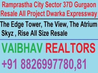 Ramprastha The Atrium Resale Tower No. F Lower Floor 3 BHK Sector 37D Gurgaon Call VR