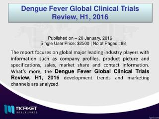 Dengue Fever Global Clinical Trials Forecast & Future Industry Trends