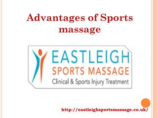 Advantages of Sports massage