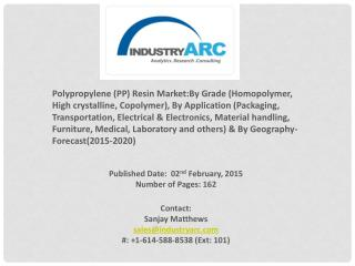 Polypropylene (pp) resin market | IndustryARC.