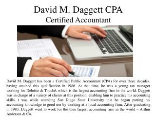 David M. Daggett CPA - Certified Accountant