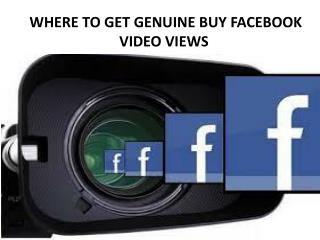 Get Real Facebook Video Views