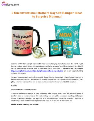 5 Unconventional Mothers Day Gift Hamper Ideas to Surprise Momma!