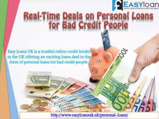 Get Personal Loans for Bad Credit at Best Possible Low Rates