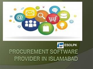 Procurement software provider in Islamabad