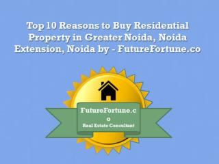 Top 10 Reasons for Easy to Buy Residential Property in Noida Extension - FutureFortune.co