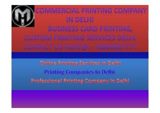 Business Printing Company In Delhi