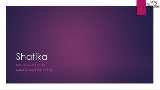 Shatika Maheshwari  Silk Cotton Sarees Online