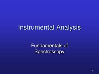 Instrumental Analysis