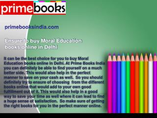 buy Moral Education books online in Delhi
