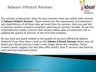 Adware Infotech Reviews