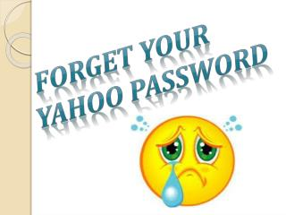 How to change your yahoo forgot password