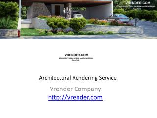 Architectural Visualization