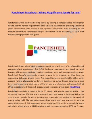 Panchsheel Pratishtha - Magnificence Speaks for Itself