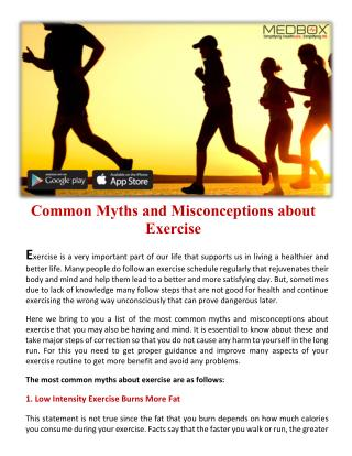 Common Myths and Misconceptions about Exercise