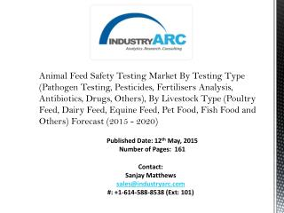 Animal Feed Safety Testing Market: to control diseases in animal due to contaminants in feed.