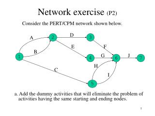 Network exercise  (P2)
