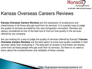 Kansas Overseas Careers Reviews