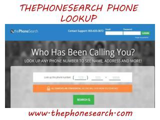 Thephonesearch.com Phone Lookup