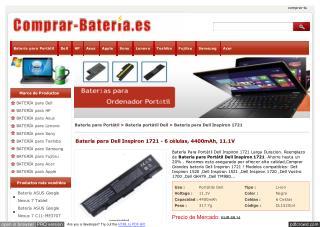 http://www.comprar-bateria.es/dell-inspiron-1721-bateria.html