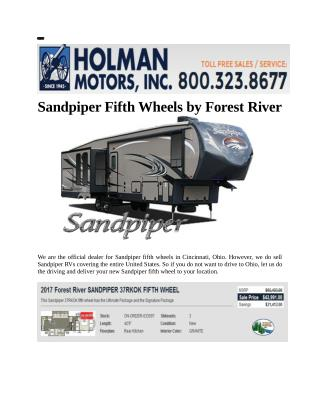 Sandpiper Fifth Wheels by Forest River