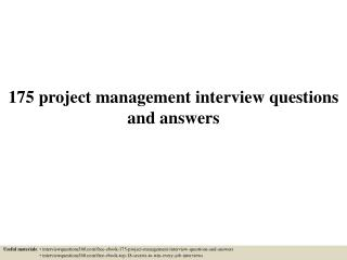 Top Interview questions PMP