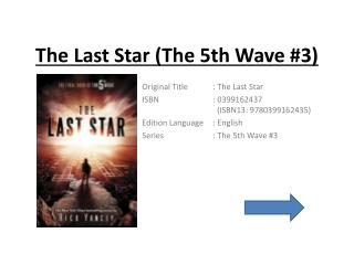 The Last Star (The 5th Wave #3) | Free Download Ebooks
