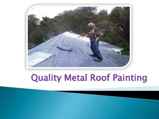 Quality Metal Roof Painting
