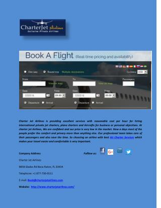 Book Private Air Taxi Services