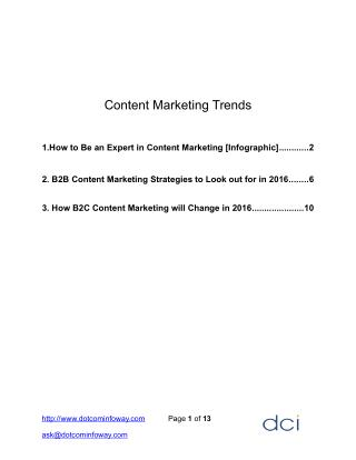 Content Marketing Trends for Business Growth