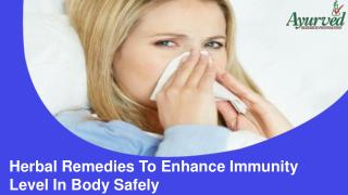 Herbal Remedies To Enhance Immunity Level In Body Safely