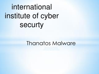 Thanatos Malware