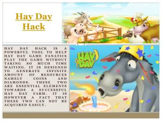 Hay Day Cheats