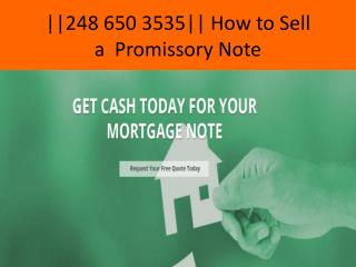 How to Sell Promissory Notes