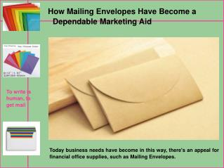 Low Cost & Best Mailing Envelopes