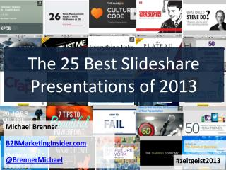 Top 25 Slideshare Presentations of 2013