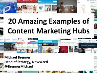 20 Amazing Brand Content Marketing Hubs