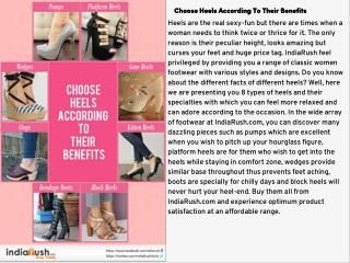 Choose Heels According To Their Benefits