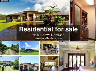 Residential for sale in haiku, hawaii, 369346