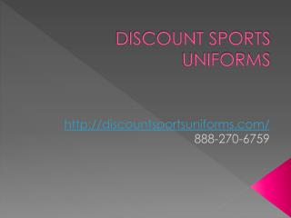 Custom Made Team Uniforms at Discount Prices