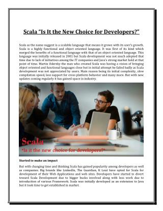 "Scala ""Is It the New Choice for Developers?"