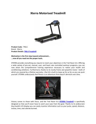 Xterra motorised treadmill