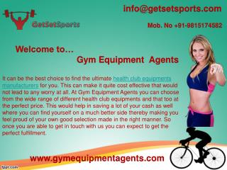Choose the ultimate health club equipments manufacturers