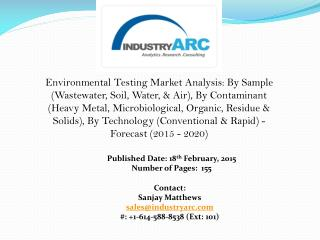 Environmental Testing Market: Environmental lab water safe to drink, tests confirm.