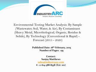 Environmental Testing Market: Environmental lab water safe to drink, tests confirm.