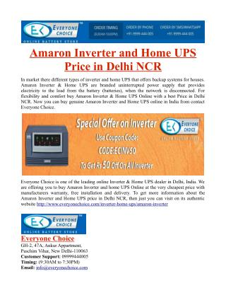 Amaron Inverter and Home UPS Price in Delhi NCR