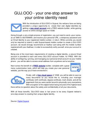 GUJ.OOO - your one-stop answer to your online identity need