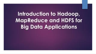 Introduction to Hadoop and Hadoop component